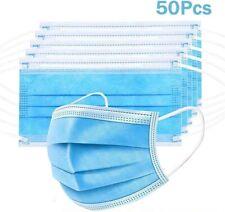 Lot de 50 filtres de protection buccale Dubaobao, 3 couches, protection respirat