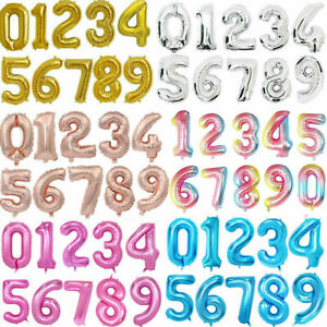 """Giant Foil Number Balloons letter Air Helium Birthday Age Party Wedding 32"""" 40"""""""