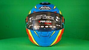 Airoh - ST 301 Tide Azure Motorcycle Helmet (Azure - Gloss) NEW& BOXED