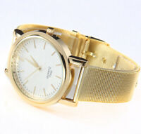 Stainless Steel Gold Classic Women Quartz Stainless Steel Wrist Watch Lady Style