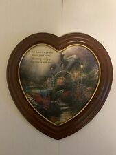 New ListingThomas Kinkade Heart-Shaped Plaque The Blossoms of Home Limited Edition