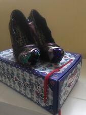 Irregular Choice Amazonianic violet métallisé séquence Chaussures Taille Boîte 37 in (environ 93.98 cm)
