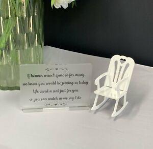 Memorial sign, In Loving Memory, Memory Sign, Resevered Chair, Wedding memorial