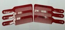 6Pc Speed O Guide Flatopper Clipper Comb Barber Stylist Cutting Hair Comb - RED
