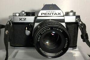 Reflex argentique PENTAX K2 + SMC Takumar 1,8/55mm Bien lire l'annonce !