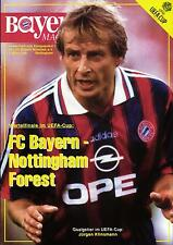 UEFA - EC III 95/96 Bayern München - Nottingham Forest, 05.03.1996 Klinsmann