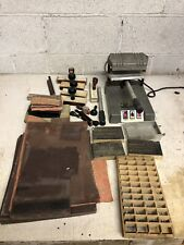 Warner Electric Company Stamp Maker Press With Extras