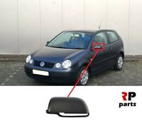 FOR VW POLO (9N) 2001 - 2005 NEW WING MIRROR COVER CAP BLACK LEFT N/S