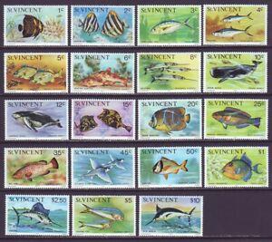 St Vincent 1975 SC 407-425 MNH Set Fish