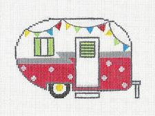 SP. ORDER ~ Summer Camper Travel Trailer HP Needlepoint Canvas ZIA from Danji