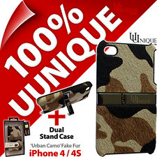 Uunique Hard Shell Urban Camo Case Dual Stand Cover for Apple iPhone 4 / 4S