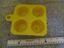 Fisher Price Fun with Food Yellow cupcake tray holes sand toy cookie bake cook