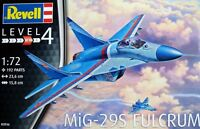 Revell 1:72 MiG-29S Fulcrum Aircraft Model Kit