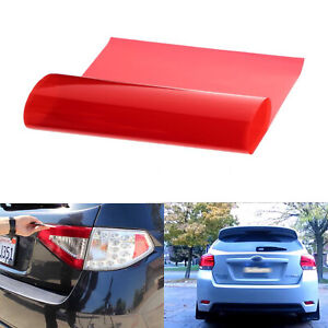 "12x48"" Glossy Red Vinyl Wrap Film Sticker Fog Headlight Tail Sidemarker Lamps"