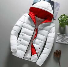 Men's Bubble Puffer Cotton Down Jacket Hooded Coat Slim Fit Winter Warm Coat New