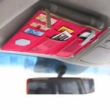 CAR Sun Visor Organizer All Vehicles Pink Zippered Cel Phone Tablet Holder