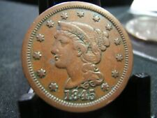 1845 Braided Hair Large Cent VF and very pretty color and details NEWPS