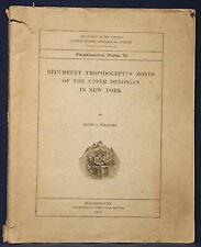 Usgs Devonian Fossils of the Finger Lakes Region, New York Vintage 1913 Rare