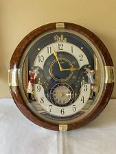 """Seiko 16"""" Melodies In Motion Musical Wall Clock - As-is for Repair QXM128BRH"""