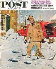 The Saturday Evening Post March 1 1958 George Hughes Vintage Americana Gandhi
