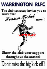 Warrington - Vintage Style Rugby League Advertising Poster # 1