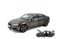 1/18 1:18 Scale Audi A4L 2017 Brown Diecast Model Car Paudimodel + gift