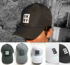 DKNY Donna Karan New York Unisex Adjustable Box Logo Cap Hat Black, White Grey