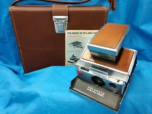 POLAROID SX-70 Camera With Case Instructions EXCELLENT CONDITION Vintage Instant