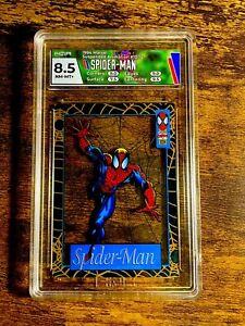 🕷🕸1994 Amazing Spider-Man Suspended Animation HGA8.5 Insert Fleer Marvel 10/12