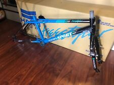 HARO 2018 1988 TEAM SPORT VINTAGE FRAME  BLUE BLACK CHROME RETRO OLD SCHOOL BMX