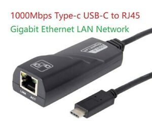 USB-C/TYPE-C to RJ45 Gigabit Ethernet LAN Network Adapter Cable 10/100/1000MBPS