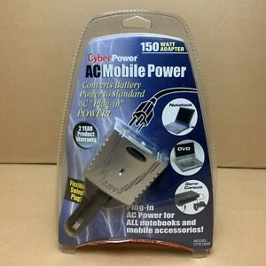 Cyber Power CPS150BI Mobile Power Inverter 150W AC Outlet w/ 120V 3-prong outlet