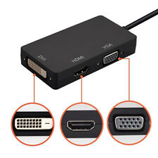 3 en 1 mini Display Port DP a HDMI VGA DVI Converter para Microsoft Surface Pro