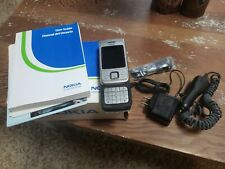 VINTAGE NOS NOKIA 6265 SILVER SLIDER CELLPHONE - US CELLULAR