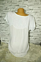 Italy New Collection T-Shirt Bluse weiß Gr.38 40 42 44 blogger Tunika Vintage