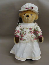 """Harrods Girl Bear Dress with Roses Has Tags 18"""" Free Shipping!"""