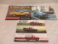 Dastun Sportrucks and 310 1976-1977 Sales Brochures Nissan Vintage