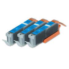 3 CYAN Printer Ink + smart chip for Canon CLI-251 MG7120 MG7520 MG6620 MG5622