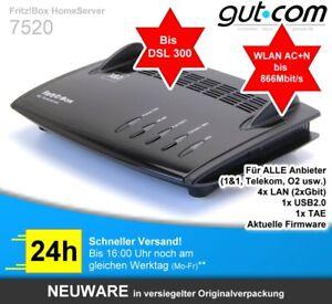 AVM Fritz!Box 7520 VDSL DSL 300Mbit 250 WLAN Router Modem für 1&1 Telekom O2 ua