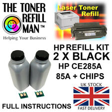 Toner Refill Kit For Use In HP LaserJet Pro P1102W CE285A Black 85A + Chips