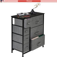 Dresser Bedside 7 Drawers, Furniture Storage Tower Unit for Bedroom, Office Grey