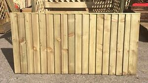 Brand New 6ft x3ft Strong Fully Framed Feather Edge Fence Panel Garden