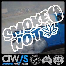 Drift Sticker Decal SMOKE TIRES NOT DRUG Drifting Jdm Burnout Hoon Skids Tyres