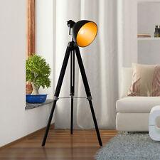 Stehleuchte höhenverstellbar Stehlampe Standlampe 3-Bein E27 Kiefer Gold