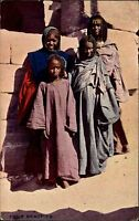 Egyptian Egypt Ägypten Postcard Gazette ~1910 Four Beauties vier Schönheiten