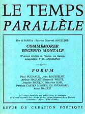 LE TEMPS PARALLÈLE N. 34 JUIN 1983 COMMEMORER EUGENIO MONTALE