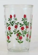 Vintage Swanky Swig Peanut Butter Glass American Beauty Red Roses
