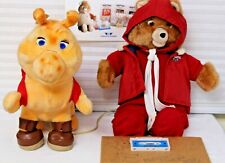Teddy Ruxpin in Aviators Outfit Grubby in Hiking Outfit/Demo Tape Cord