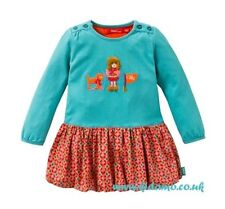 Oilily Winter Turquoise Tracy Jersey Dress - Size 5 Years (Euro Size 110)