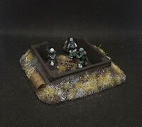 Pro Painted 28mm Ww2 German Winter Mortar Team w/ Emplacement Bolt Action